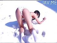 Asian Teen On Snow 02