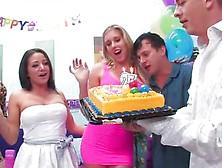 Samantha Saint - Samantha Saint Celebrates Her Birthday With A W