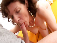 Nasty Granny With Bushy Snatch Riding Hard Dick On Top