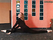 Skintight Black Spandex On Ballerina Beauty