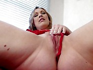 Busty Wife Vicky Vixen Fucks Her Huge Dildo