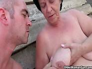 Mom Gets Her Cum Outdoors
