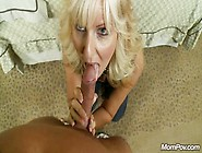 Mature Blonde Milf Gives Blowjob And Gets Fucked In Pov