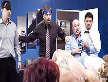 Big Tits Monique Alexander Blows Dick At Team Building Meeting