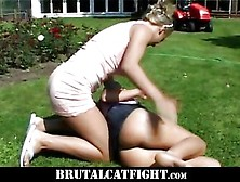 Hot Wife Beats Her Husband Mistress