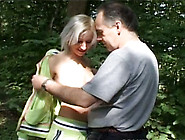 Jogging Sporty Blondie Tatiana Sucks The Cock Of Old Man Dirk In