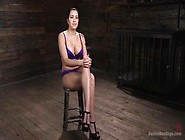 Inked Brunette Cassandra Cain Gets Harcore Dildo Insertion Bdsmn