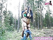 German Milf Natural Tits Outdoor Fuck In Standing Behind