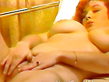 Hubby Helps Out His Masturbating Wife With A Steamy Pussy Lickin