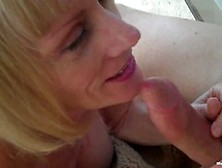 Blonde Granny Finds Great Pleasure In Cuckolding With Her Neighb