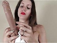 Lelu Love Fucks A Dildo Deep Into Her Pussy