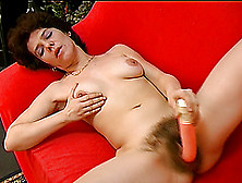 Mature Carmen Masturbates Her Hairy Pussy And Sucks A Stiff Dick