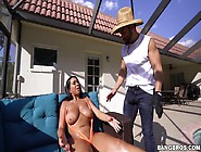 Curvy Tanned Bitch Katt Garcia Is Fucked Hard By The Pool Side