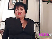 Dark Haired Granny With Big Tits Like To Make Porn Videos,  Becau