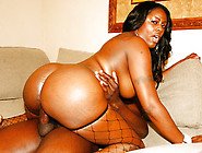 Big Black Ass Getting Glazed With Nut Sauce