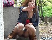 Japanese Skank Pissing Naked