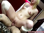 Real Dutch Blonde Hooker Giving Blowjob