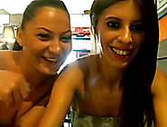These Naughty Lesbians In Cafe Masturbate For Me On Cam
