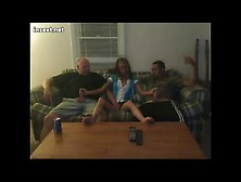 Tv Night With Her Dad And Brother. Avi