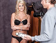 Beautiful Blonde Model Is Massaged And Fucked By Her Photographe
