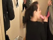 Lesbians Using Strap On In A Dressing Room
