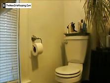 Pretty Girl On Toilet
