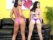 Tight Ass Bikini Lesbians Fuck Toys And Feast On Cunt