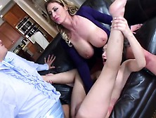 Squirting Babe Eva Shares One Huge Dick
