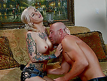 Luscious Blonde Babe With Pigtails Rides A Cock Hardcore After G