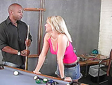 Interracial Ffm Threesome Action Leaves Blonde Vixen With A Mout