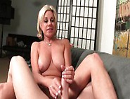 Busty Blonde Housewife Payton Hall Offers Her Husband A Great Ha