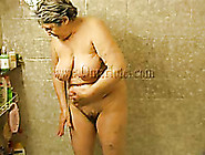 Big Breasted Granny Fucks Her Hairy Pussy With Her Sex Toy