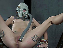 Slave Bending Over Getting Tortured Extremely In Bdsm