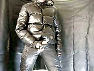 Black Shiny Puffa Jacket And Breeches - Part 2
