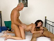 Husband Invites The Neighbor To Help Fuck His Voluptuous Wife