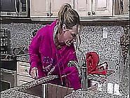Blond Milf Fucking With Stepson In Kitchen