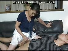 Japanese Moms Handjob With Kissing