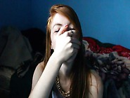 Redhead College Girl Sucks Bbc With His Parents Home