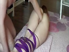 Brutally Fisting His Submissive Gf In Bondage