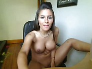 Young Latina Fake Tits Wife Plays With Shaved Puss