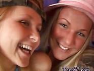 Hot Black Ebony Teen Lesbian Two Sugary-Sweet Ash-Blonde Lesbian