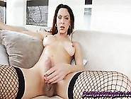 Ts Ana Hickiman Fucks Herself With A Metal Dildo