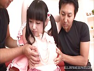 Machiko Ono Pigtailed Japanese Teen In Threeway Fucking