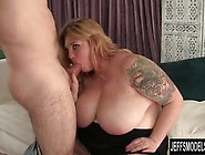Big Titted Blonde Gets Her Pussy Licked So Good.  She Sucks His S