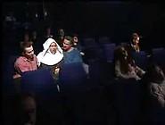 German Nun Fucks With 2 Guys In The Cinema