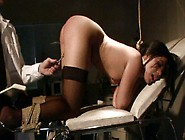 Sexy Brunette Whore Madison Gets Her Pussy Examined By Cruel Doc