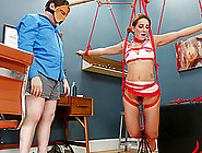 Bad Nurse Submits To Throat Fucking And Anal In Bondage