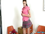 Tasty Looking College Chick Britney Takes Off Her Uniform And Sh