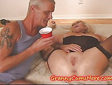Granny Has A Swingers Party With Teen Grand-Daughter