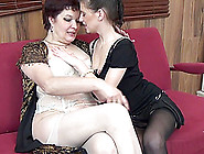 Romantic Evening With A Curious Lesbian Brunette Babe